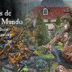 Escenas de El Viejo Mundo, dioramas de Wahammer Quest y Warhammer Fantasy